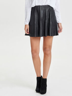 SUEDE LOOK SKIRT