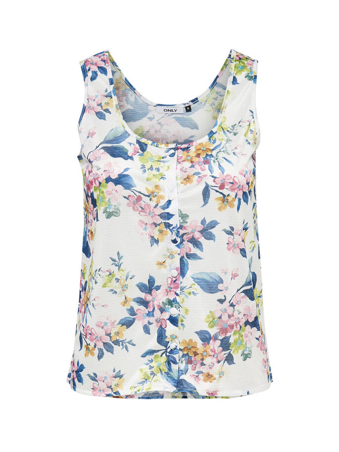PRINT MOUWLOZE TOP, Cloud Dancer, large