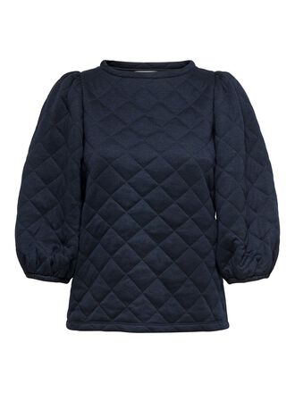 QUILTED 3/4 SLEEVED TOP