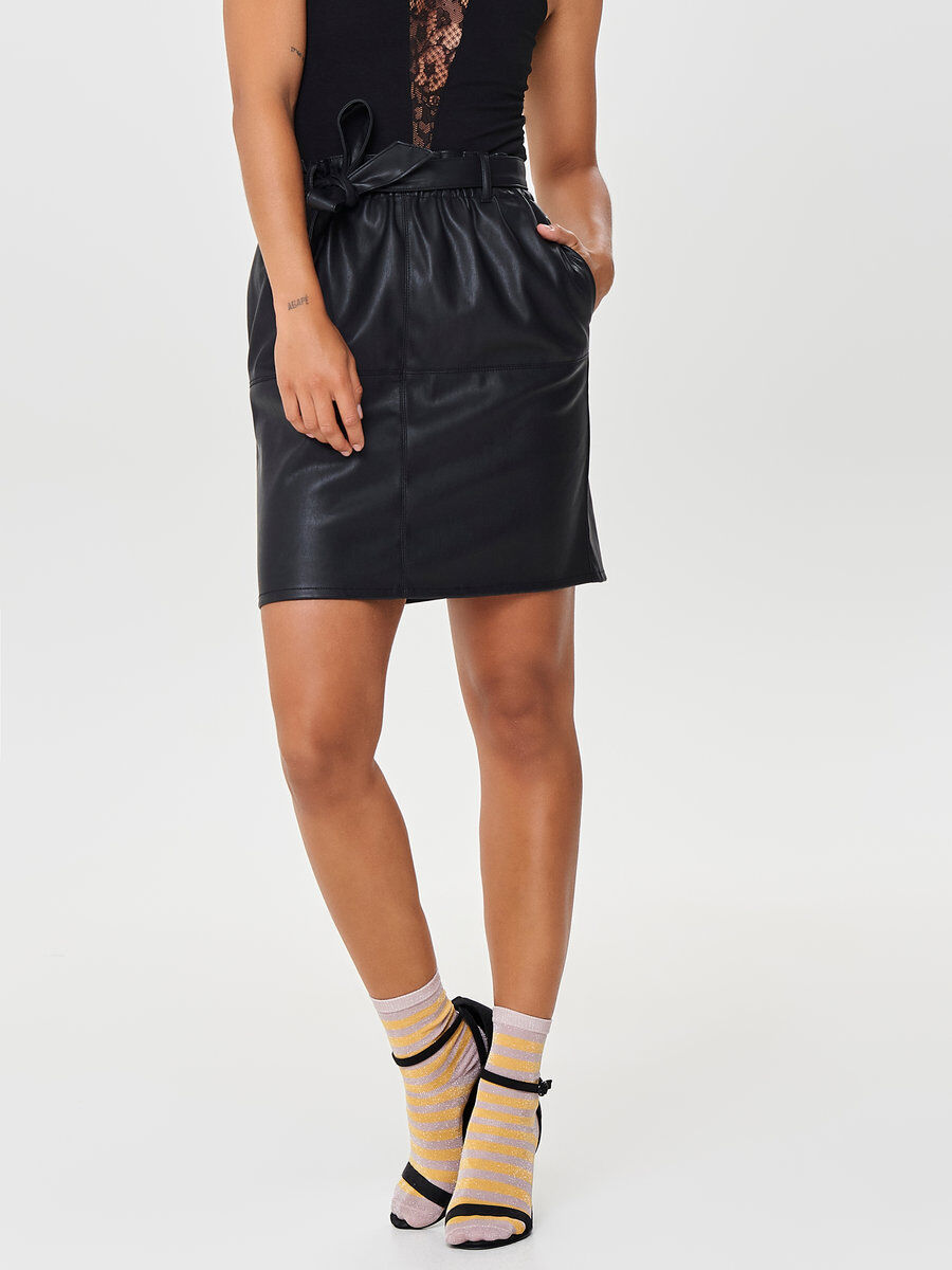 only leatherlook rok
