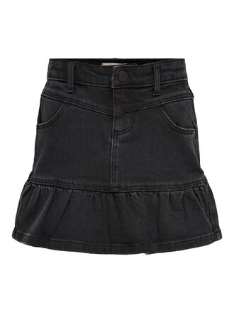 FRILL DENIM SKIRT