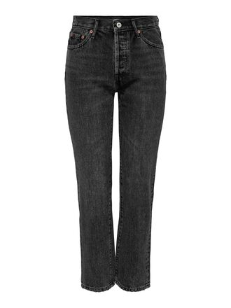 ONLFINE LIFE HIGH ANKLE STRAIGHT FIT JEANS