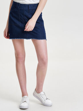 RAW DENIM SKIRT
