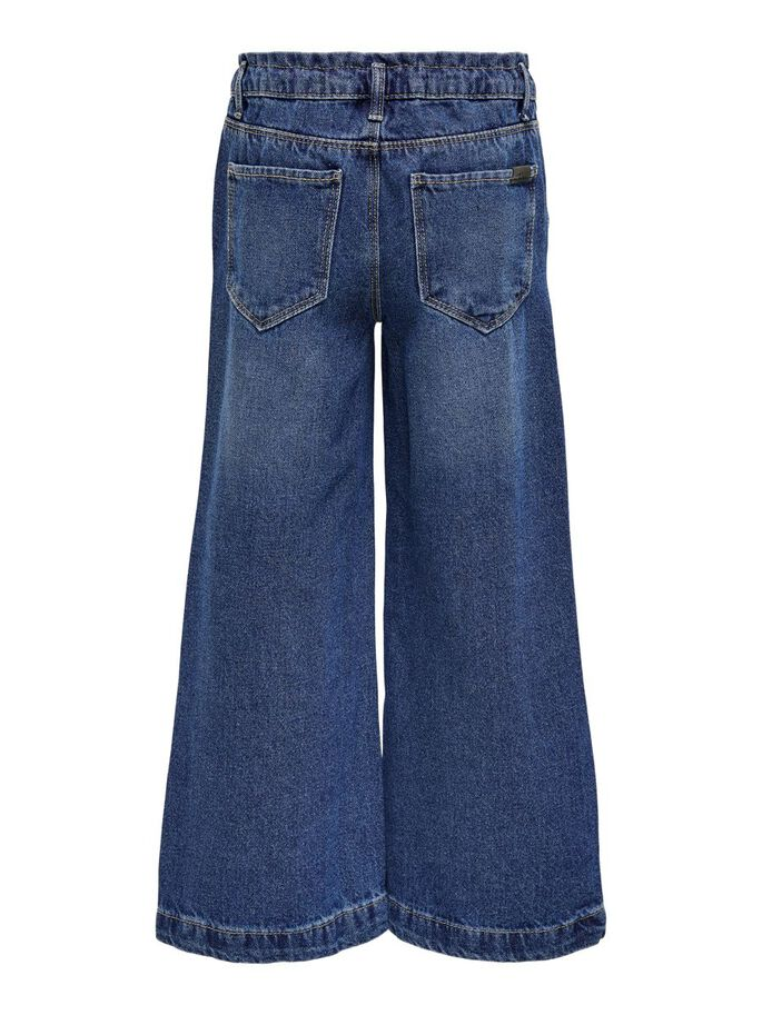 WIDE FITTED CROPPED TROUSERS, Medium Blue Denim, large