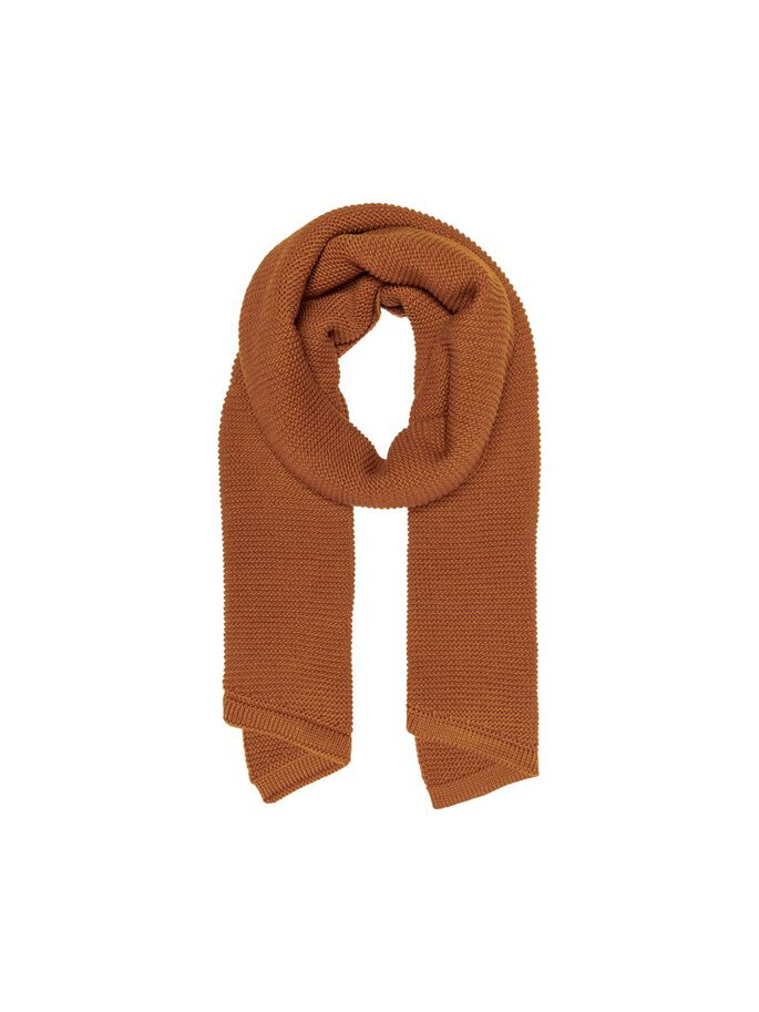 KNITTED SCARF, Pumpkin Spice, large