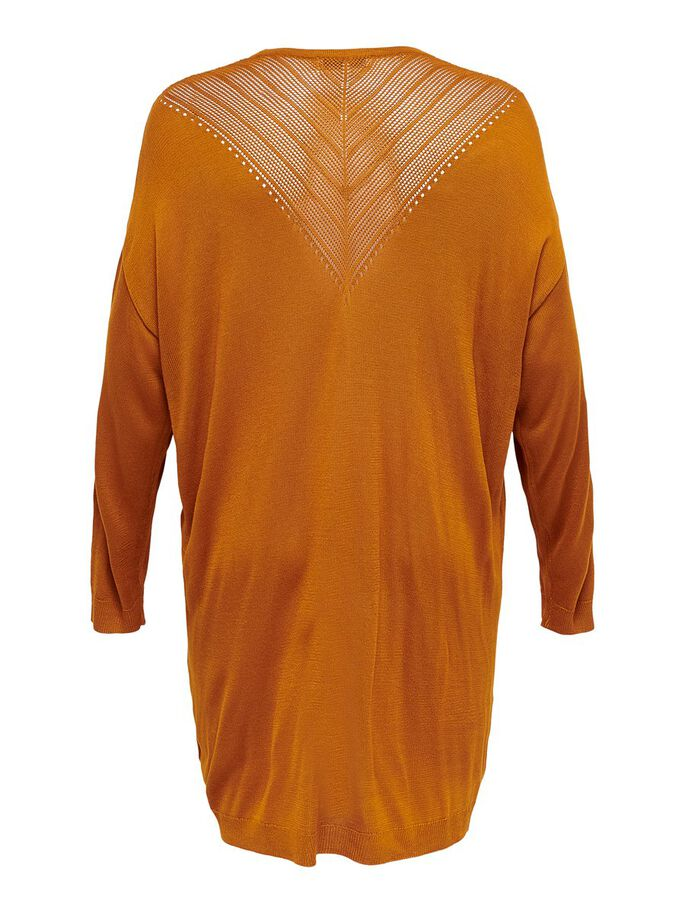 CURVY LOOSE KNITTED CARDIGAN, Pumpkin Spice, large