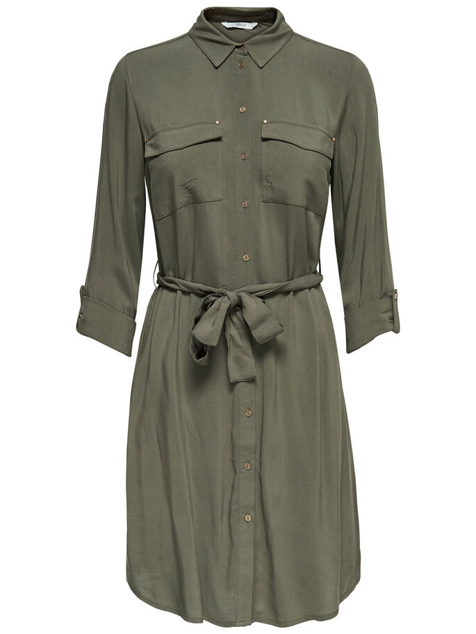 HEMD- KLEID, Dusty Olive, large