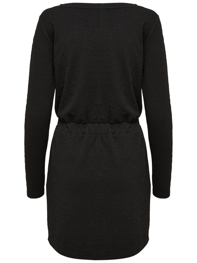 LOOSE LONG SLEEVED DRESS, Black, large