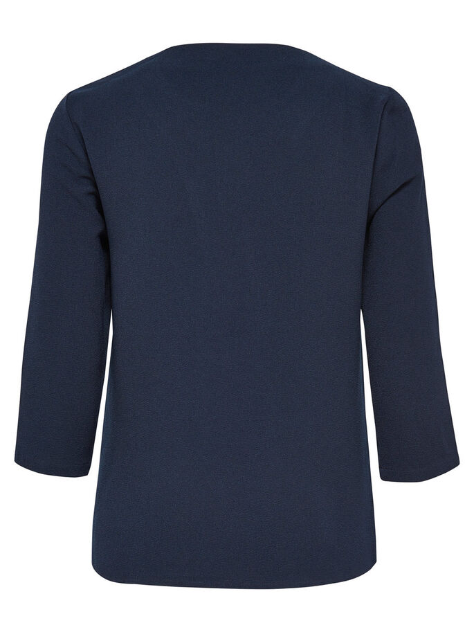 DETAILED 3/4 SLEEVED TOP, Night Sky, large