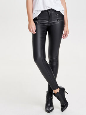 ROYAL REG ZIP ROCK COATED SKINNY FIT JEANS