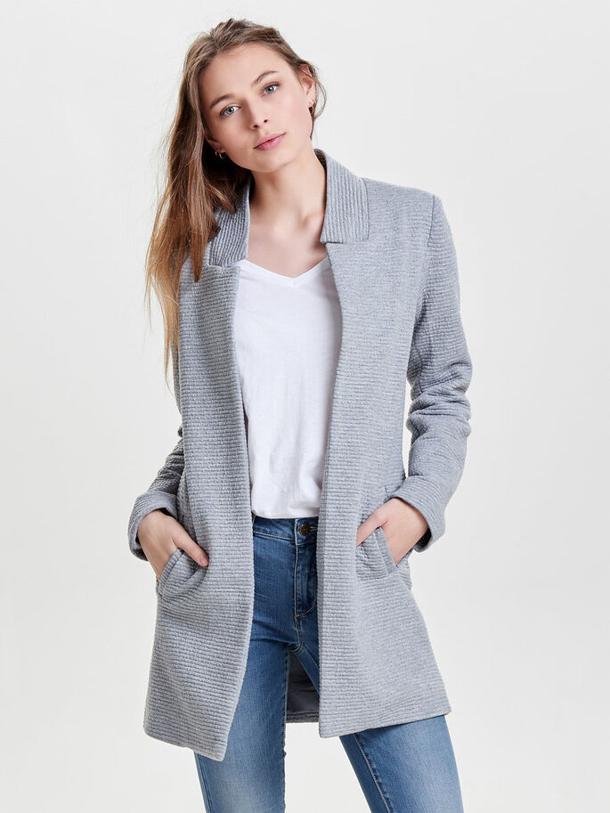 BLAZER CHAQUETA, Light Grey Melange, large