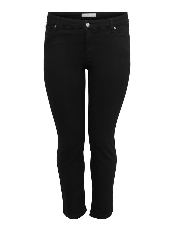 CARWILMA LIFE REG STRAIGHT FIT JEANS, Black, large