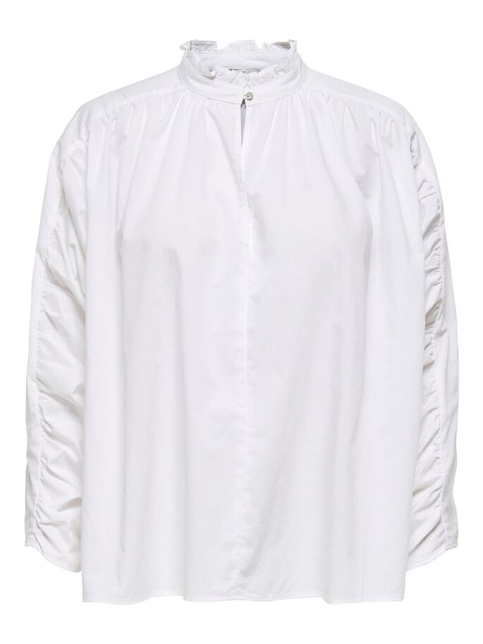 DETAILED LONG SLEEVED TOP, White, large