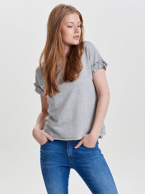 FRILL SHORT SLEEVED TOP