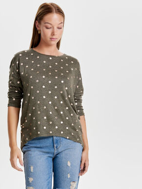 DOT 3/4 SLEEVED TOP