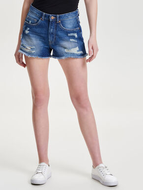 DESTROYED HIGHWAIST DENIMSHORTS