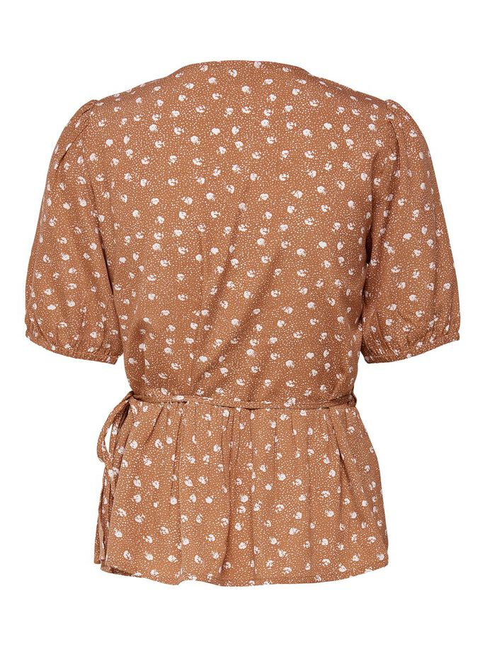 DOTTED WRAP TOP, Adobe, large