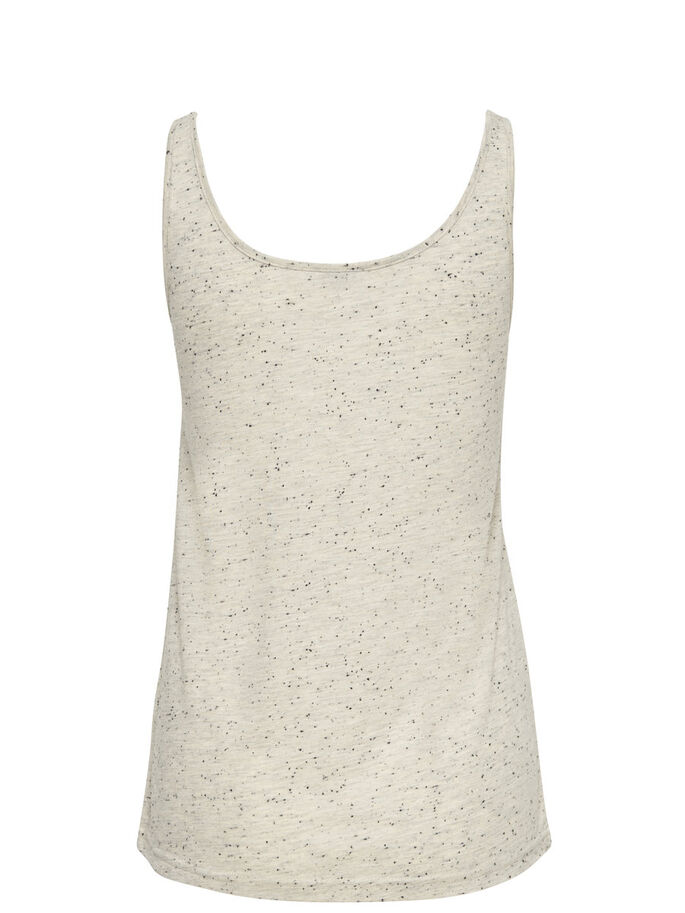 PRINTED SLEEVELESS TOP, Oatmeal, large