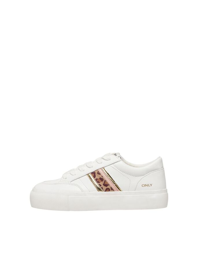 DETAILED SNEAKERS, White, large