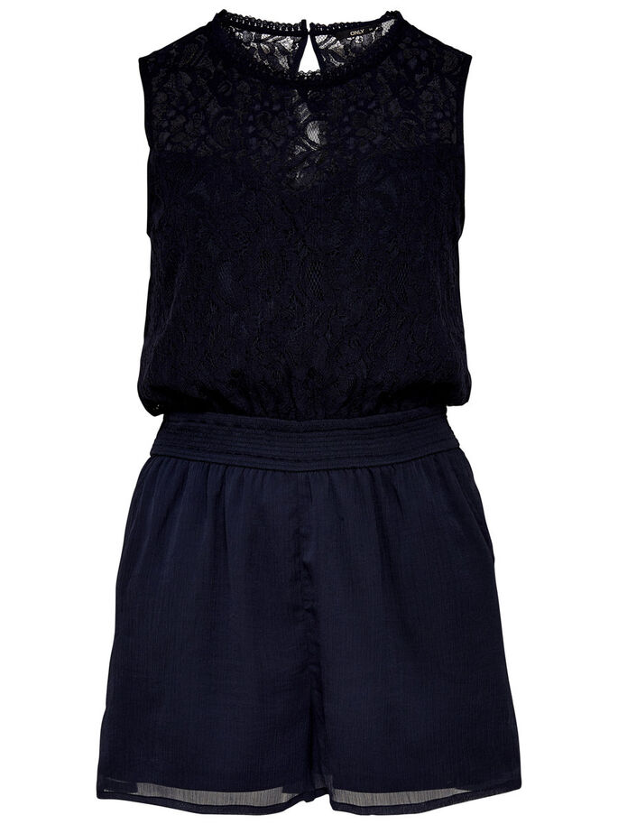 SLEEVELESS PLAYSUIT, Night Sky, large