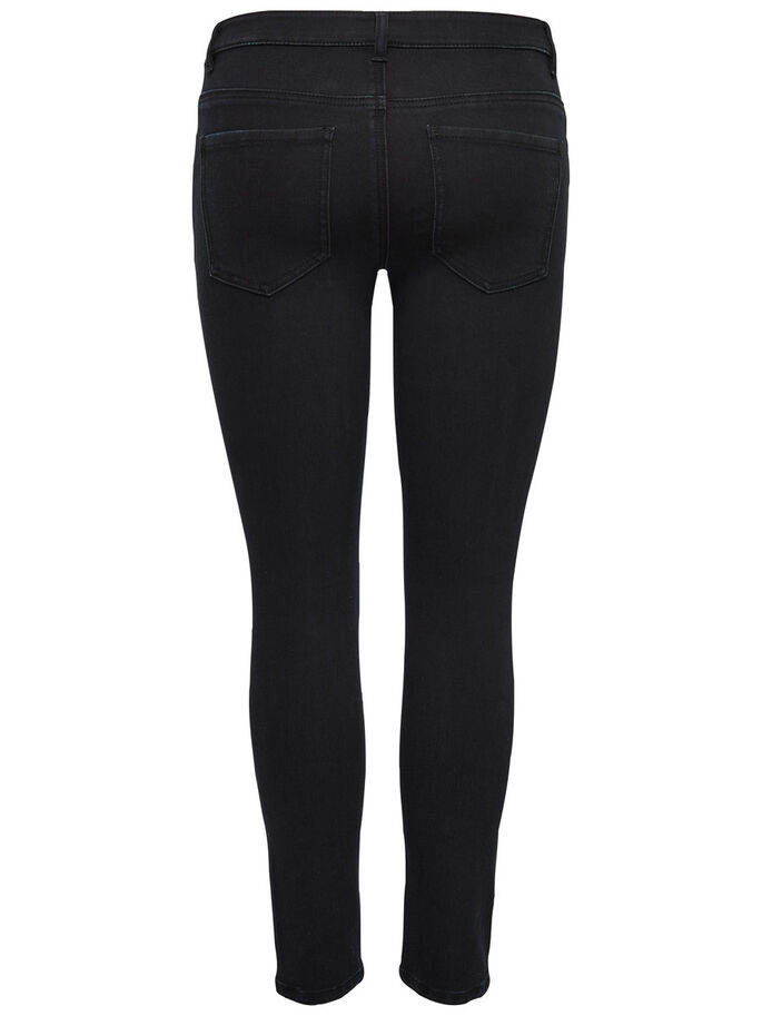 HOLLY KNEECUT ANKLE JEAN SKINNY, Black, large