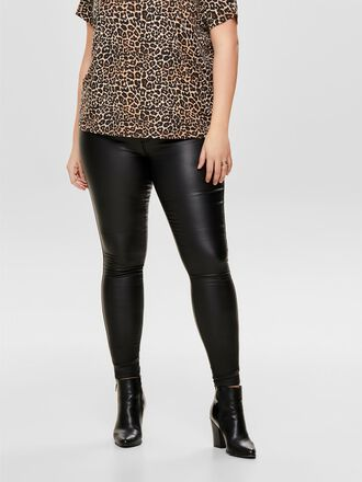 CURVY COATED TROUSERS