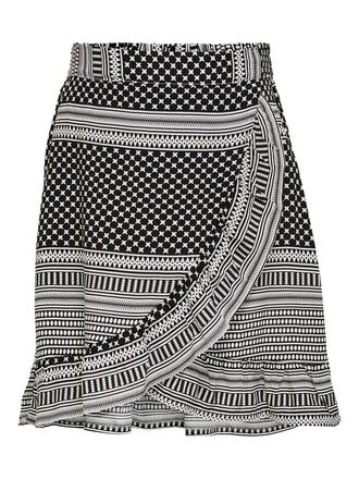 PRINTED WARP SKIRT