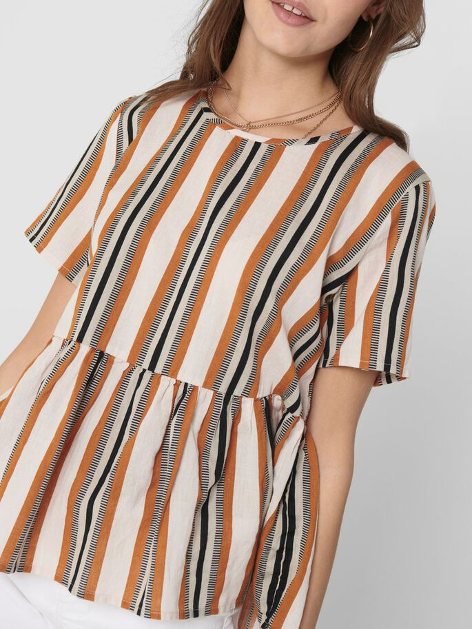 STRIPED TOP, Cloud Dancer, large