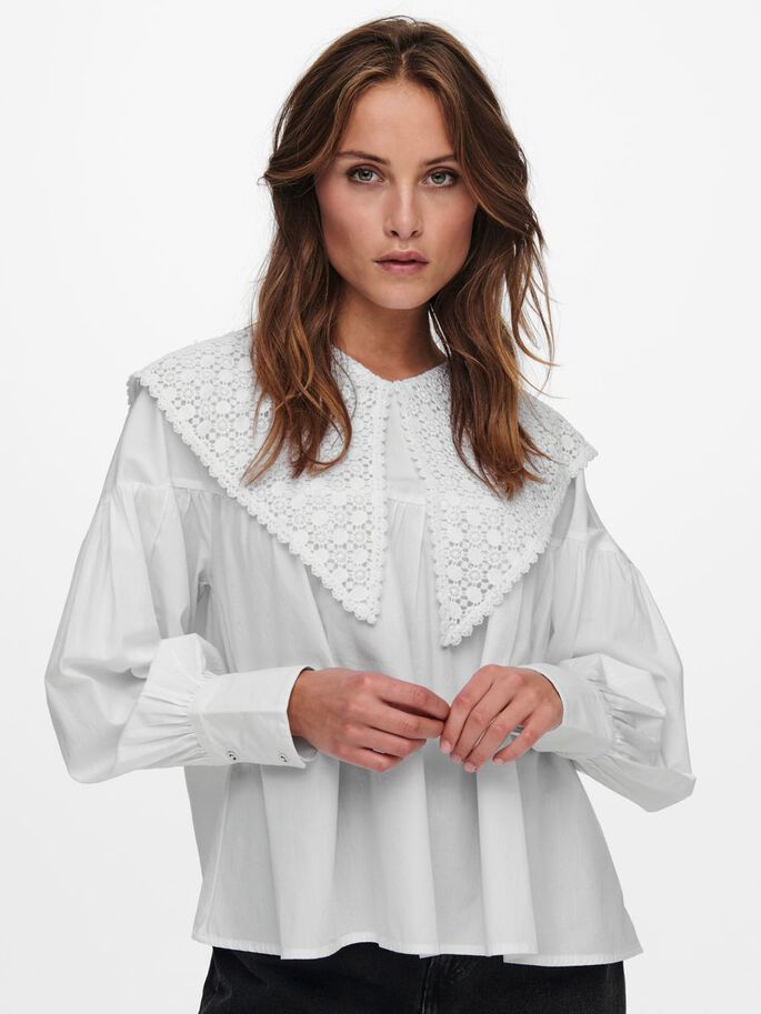 DETAILED TOP, Bright White, large