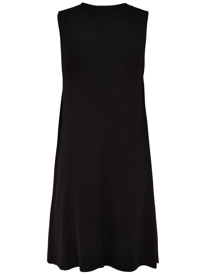 LOOSE SLEEVELESS DRESS, Black, large