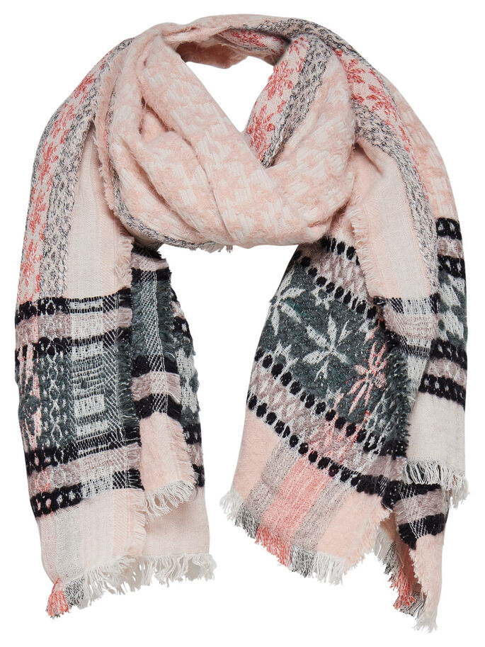 JACQUARD SCARF, Cloud Dancer, large