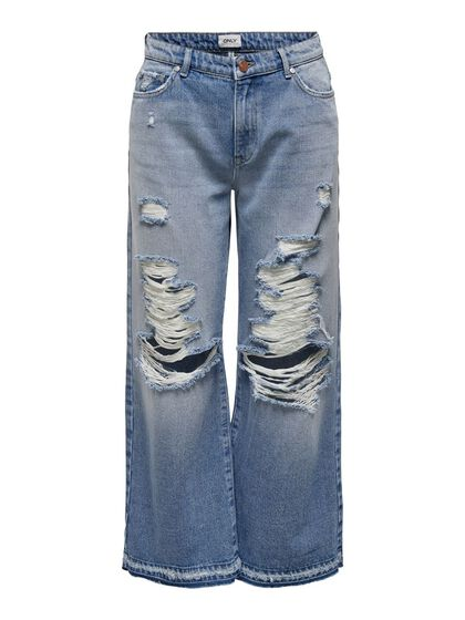 ONLSONNY LIFE WIDE DESTROYED JEAN TAILLE HAUTE