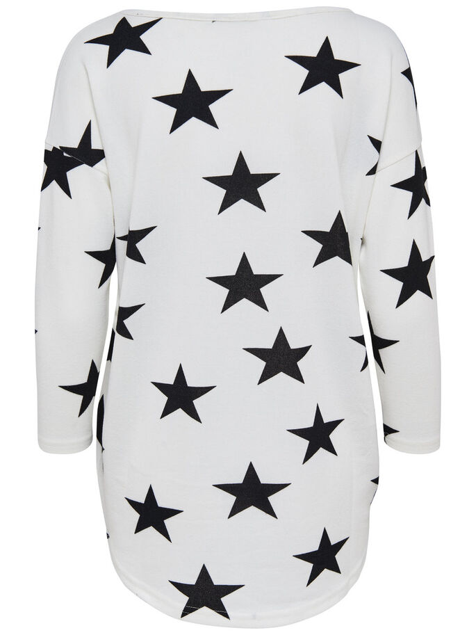 STAR LONG SLEEVED TOP, Cloud Dancer, large