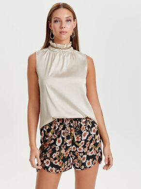 HIGH NECK SLEEVELESS TOP