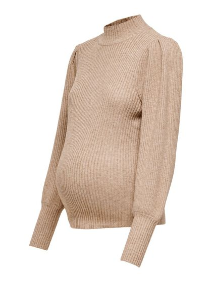 MAMA HIGH NECK KNITTED PULLOVER