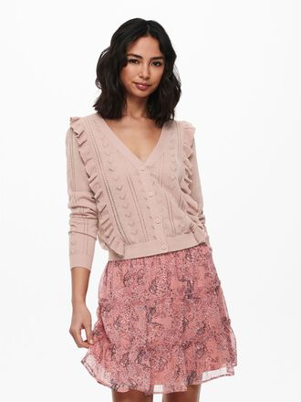 FRILL KNITTED CARDIGAN
