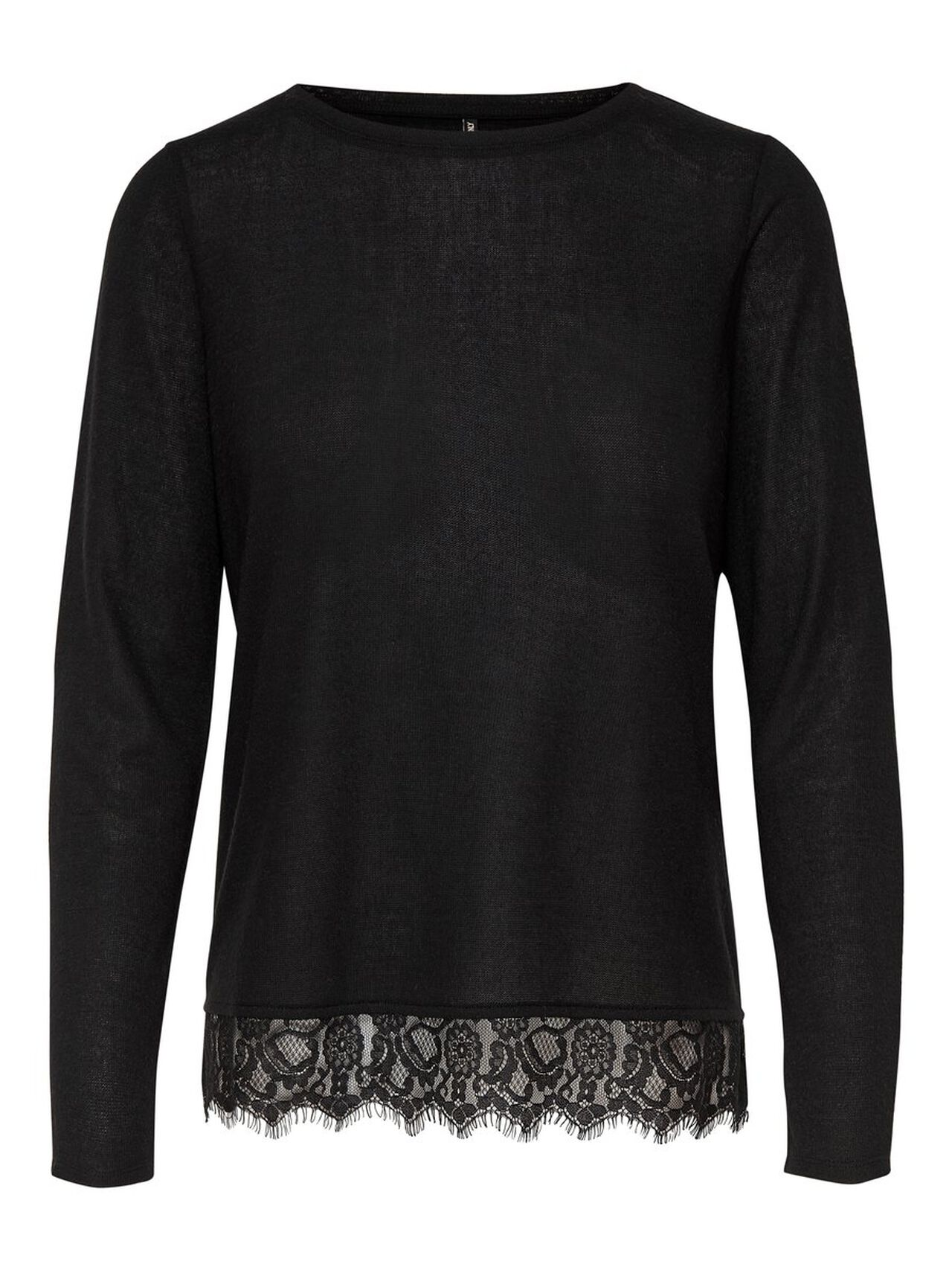 ONLY Lace Detail Long Sleeved Top Women Black