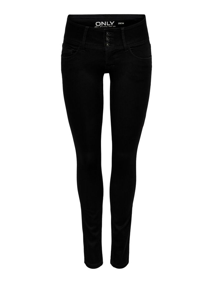 ANEMONE SOFT JEANS SKINNY FIT, Black, large