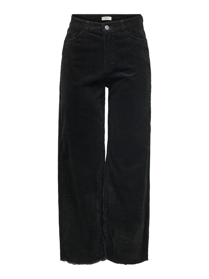 CORDUROY TROUSERS, Black, large