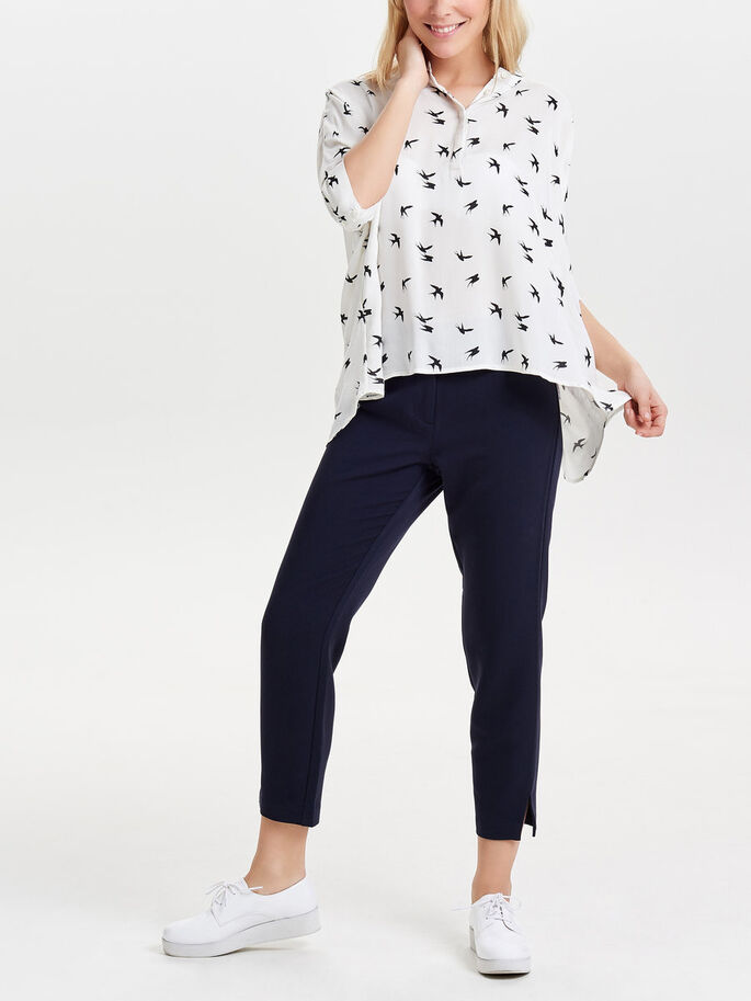 LOOSE 2/4 SLEEVED BLOUSE, Cloud Dancer, large