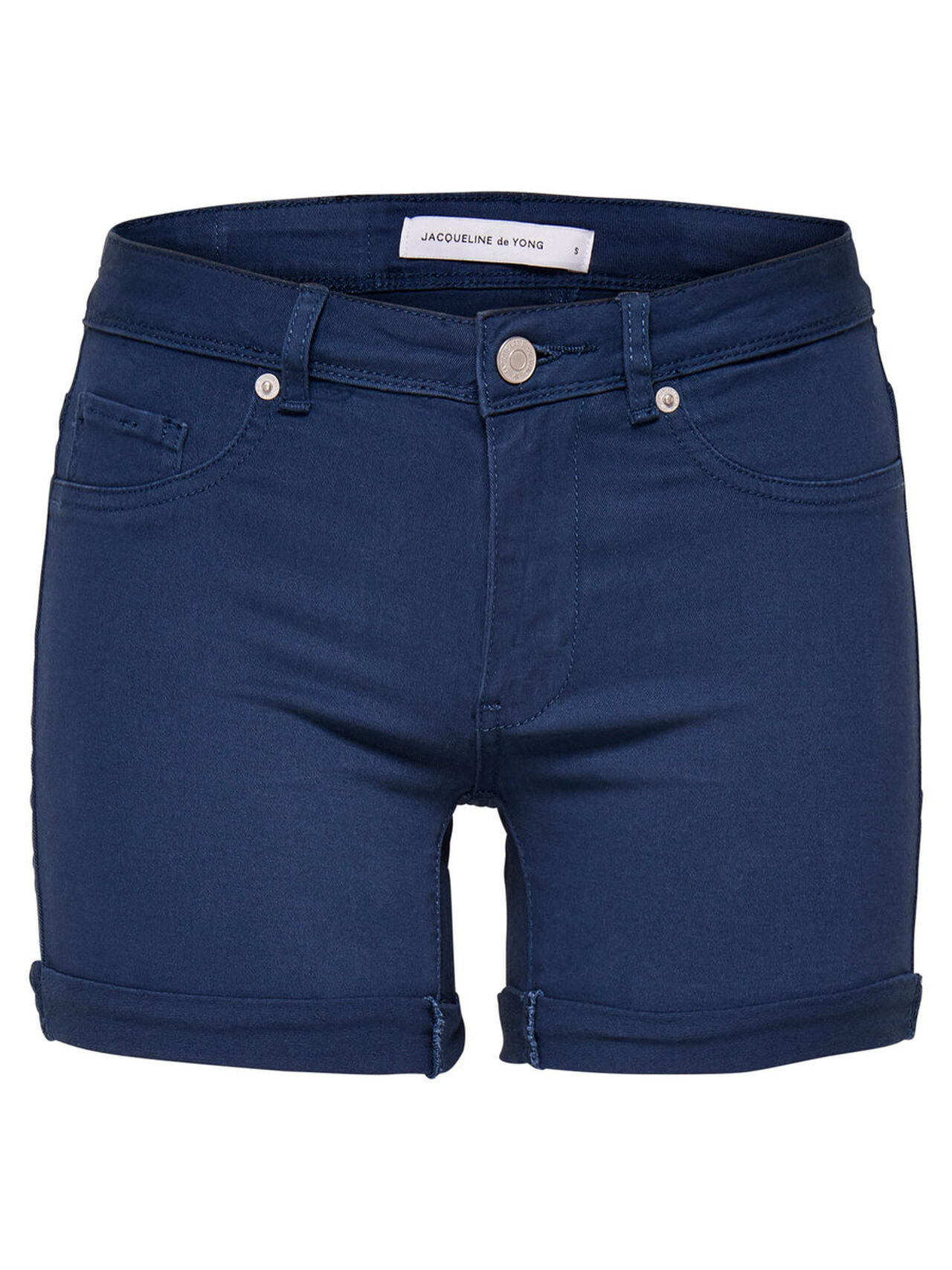 ONLY Solid Shorts Women Blue