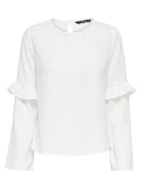 FRILLS LONG SLEEVED TOP