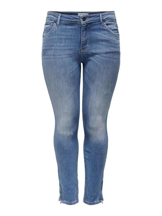 CURVY CARKARLA REG ENKEL RITS SKINNY JEANS, Medium Blue Denim, large