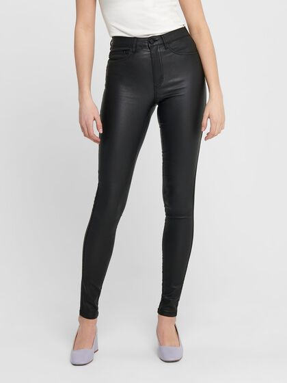 ONLROYAL HW ROCK COATED SKINNY FIT JEANS