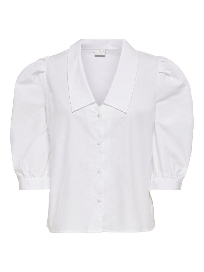 MANCHES BOUFFANTES CHEMISE MANCHES 3/4, Bright White, large