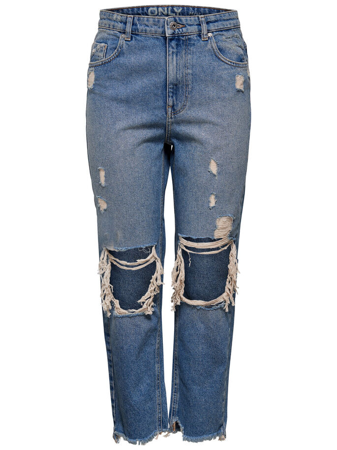 DAGNY HAUT JEAN DROIT, Medium Blue Denim, large