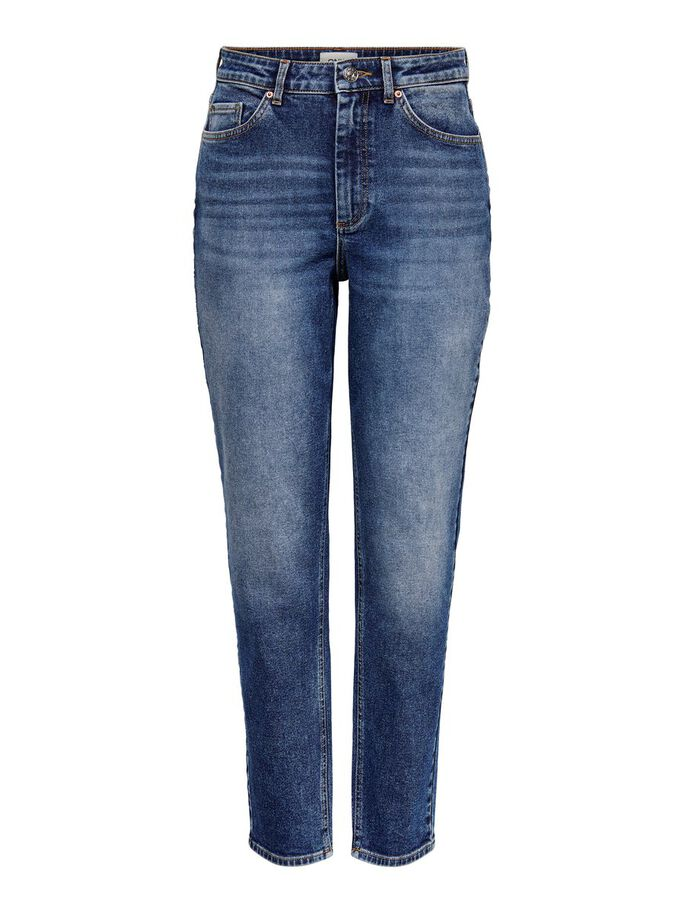ONLVENEDA MOM JEANS, Dark Blue Denim, large