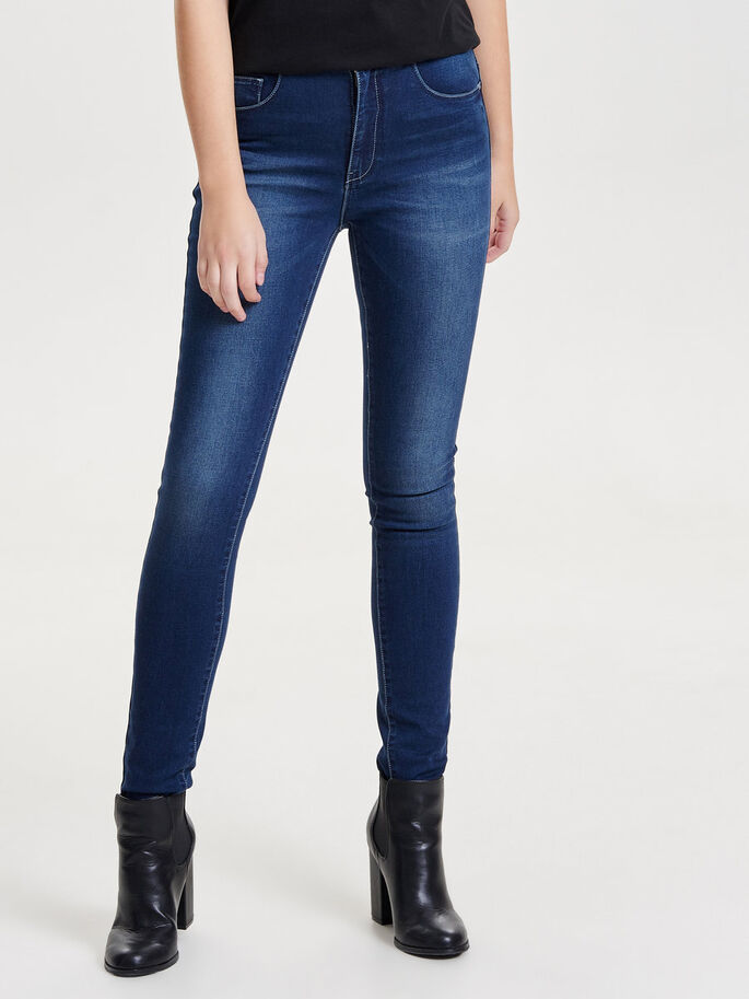 PIPER HÖGA SKINNY FIT-JEANS, Medium Blue Denim, large