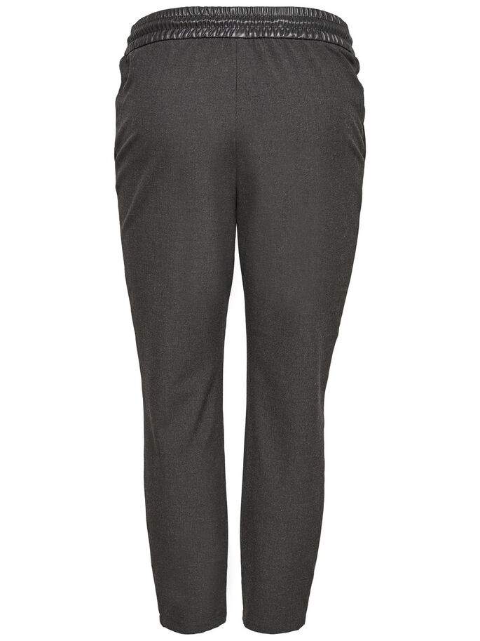 ANKLE TROUSERS, Grey Melange, large