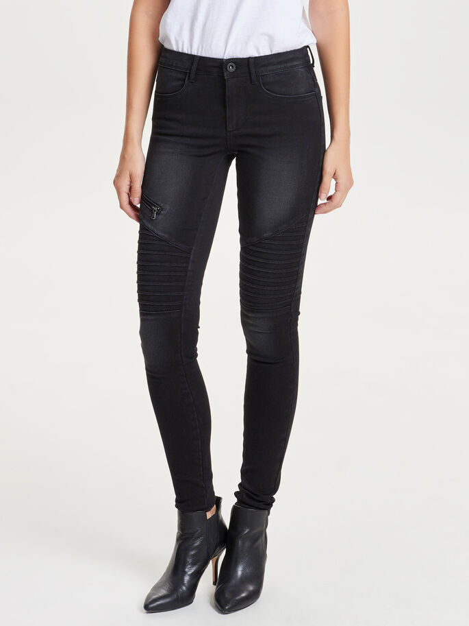ROYAL REG BIKER JEAN SKINNY, Black, large